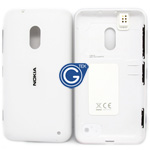 Nokia Lumia 620 Back cover with side button and earphone connector in white