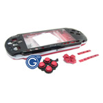 PSP 3000 complete housing black & red