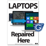New A1 Large 841 x 594 mm Laptops Repaired Here Poster