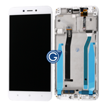 Redmi 4X Complete LCD with Touchpad and Frame in White - OEM
