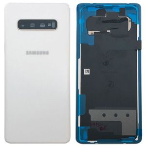 Genuine Samsung Galaxy S10 Plus (G975F)  Battery Back Cover Ceramic White -  Part no: GH82-18867B