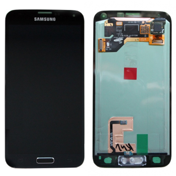 Genuine Samsung Galaxy S5 SM-G900F Lcd and touchpad in Black/Blue - GH97-15734B