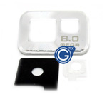 Samsung Galaxy S2 i9100 camera cover silver