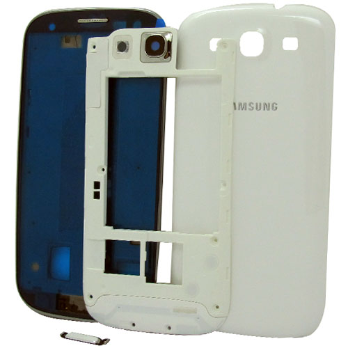 Samsung Galaxy S3 i9300 complete housing in white