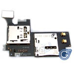 Samsung Galaxy Note 2 GT-N7100 sim card and memory card flex