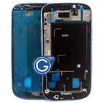 Samsung i9300 Galaxy S3 LCD Frame  with side button in Metallic Blue