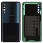 Genuine Samsung A90 5G SM-A908 Battery Cover In Black With Adhesive - GH82-20741A