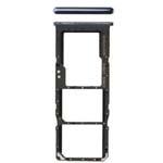 Genuine Samsung Galaxy A70 (A705) Dual im/SD Card Holder Black Part No: GH98-44196A
