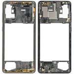 Genuine Samsung Galaxy A71 Middle Frame Black Part No: GH98-44756A