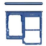 Genuine Samsung A31 SM-A315F Sim card holder/memory card Holder In Blue - Part no: GH98-45432D