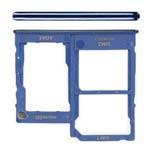 Genuine Samsung A41 (SM-A415) Sim Card Tray In Blue - Part no: GH98-45275D