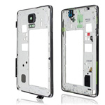 Genuine Samsung SM-N910F Galaxy Note 4 Complete Rear Chassis with parts (Black) - Part no: GH96-07639B