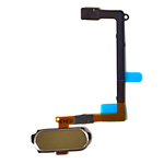 Genuine Samsung SM-G920F Galaxy S6 Home Button Flex-Cable Complete in Gold- Samsung part no:GH96-08166C
