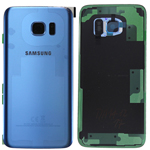 Genuine Samsung SM-G935F Galaxy S7 Edge Back Cover in Coral Blue - Samsung part no: GH82-11346F