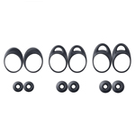Genuine Samsung Gear IconX SM-R140 Black Ear Wing Rubber Tip Pack - Part no: GH98-42497A / GH98-43282A