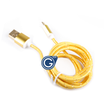 Braided Micro USB Charging/Data Cable 1.5M in Gold