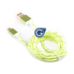 Braided Micro USB Charging/Data Cable 1.5M in Green