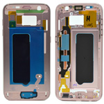 Genuine Samsung G930F Galaxy S7 Front Cover Frame In Pink - Part no: GH96-09788E