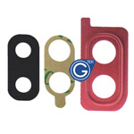 Samsung Galaxy A20 SM-A205F Camera Cover with Lens in Red