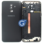 Samsung Galaxy J8 J810F Rear Cover with Side button in Black