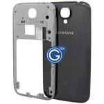 Samsung Galaxy S4 LTE(4G) i9505 Rear Frame with Battery Cover in Black (with 4G Logo)