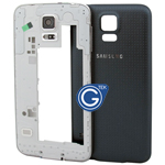 Samsung Galaxy S5 G900F Rear Frame with Battery Cover in Black