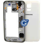 Samsung Galaxy S5 G900F Rear Frame with Battery Cover in White