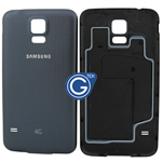 Samsung Galaxy S5 LTE-A G901F,S5 G900F Battey Cover in Black (with 4G Logo)
