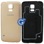 Samsung Galaxy S5 LTE-A G901F,S5 G900F Battey Cover in Gold (with 4G Logo)