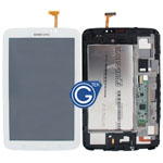 Genuine Samsung Galaxy Tab 3 7.0 WiFi Version SM-T210  Complete LCD with Frame and Home Button in White