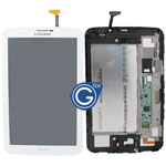 Genuine Samsung Galaxy Tab 3 7.0 3G Version SM-T211 Complete LCD with Frame and Home Button in White