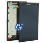 Sony L35h Xperia ZL Complete LCD with frame in black