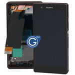 Sony L36h Xperia Z Complete LCD with digitizer and centre board in purple