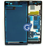 Sony L39h Xperia Z1 LCD Frame / Front Cover in black