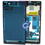 Sony L39h Xperia Z1 LCD Frame  Front Cover in Purple
