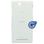 Sony Xperia C3 Back Cover with power button and volume button in White