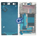 Sony Xperia C3 LCD Frame Front Cover in White