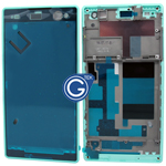 Sony Xperia C3,D2533 LCD Frame Front Cover in Cyan