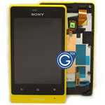 Sony Xperia Go ST27i  Complete LCD with Frame in yellow