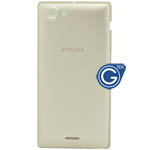 Sony Xperia J ST26i battery cover in gold