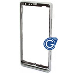 Sony Xperia SP M35h Centre frame with adhesive in silver