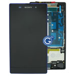 Genuine Sony Xperia Z1 L39H Complete LCD with frame in Purple