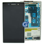 Genuine Sony Xperia Z1 L39H Complete LCD with frame in white