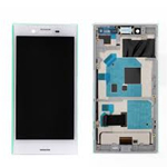 Genuine Sony Xperia X Compact (F5321) Complete lcd and touchpad with frame in white - Part no: 1304-1871