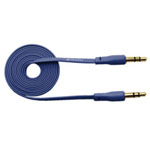 3.5mm Stereo Audio Auxiliary AUX Cable for iPhone 4 MP3 Flat Dark Blue