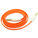 3.5mm Stereo Audio Auxiliary AUX Cable for iPhone 4 MP3 Flat Orange