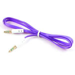 3.5mm Stereo Audio Auxiliary AUX Cable for iPhone 4 MP3 Flat Purple
