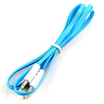 3.5mm Stereo Audio Auxiliary AUX Cable for iPhone 4 MP3 Flat Blue