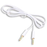 3.5mm Stereo Audio Auxiliary AUX Cable for iPhone 4 MP3 Flat White