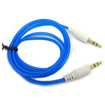 3.5mm Stereo Audio Auxiliary AUX Cable for iPhone 4 MP3 Round Blue